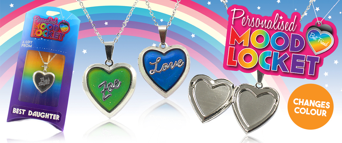 Personalised mood locket necklaces